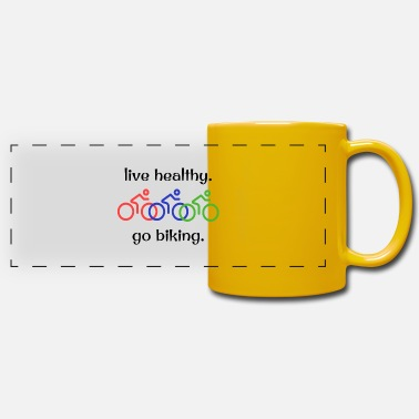 Healthy live healthy go biking cycling - Panoramic Mug