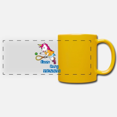 Funny Unicorn Tennis unicorn - Panoramic Mug
