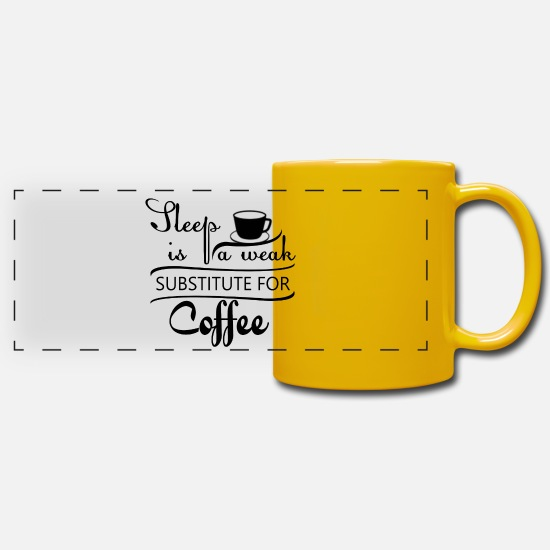 Movie Mugs & Drinkware - SLEEP IS A WEAK ..... - Panoramic Mug sun yellow