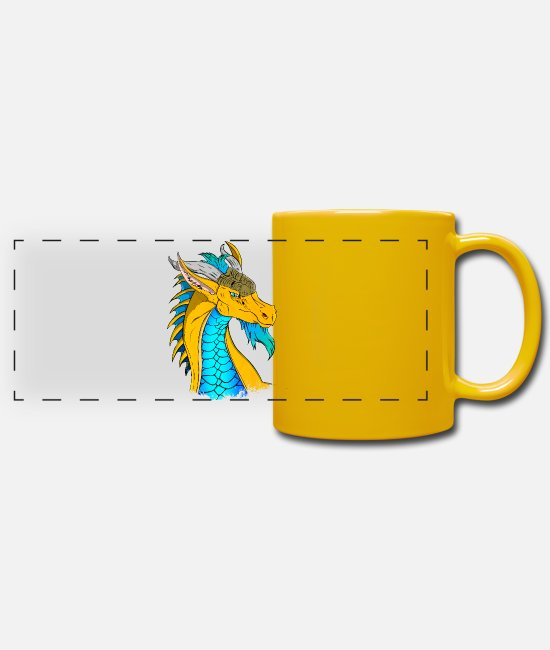 Dragon Head Mugs & Drinkware - Dragon Head - Panoramic Mug sun yellow