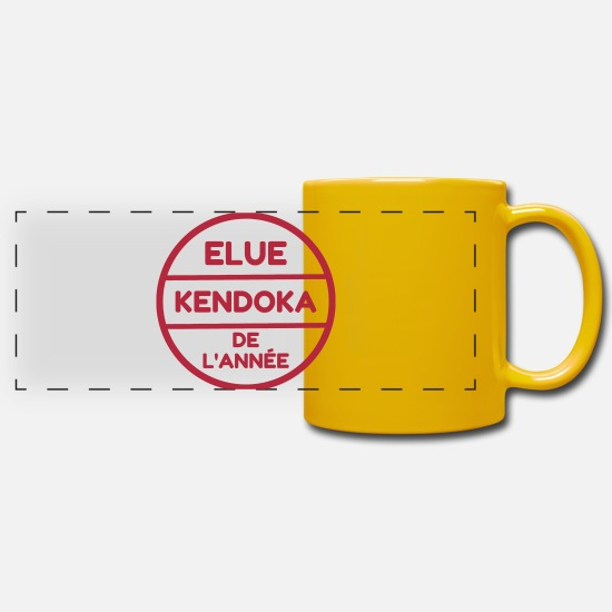 Strong Mugs & Drinkware - Kendo / Kendoka / Martial Arts / Sword - Panoramic Mug sun yellow