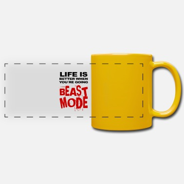 Life Is Better When Youre going Beastmode - Panoramic Mug