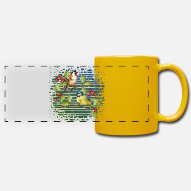 Animal Love Colorful birds - Panoramic Mug