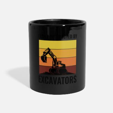 Civil Engineering Excavator Heavy Equipment Operator Vintage Retro - Panoramic Mug