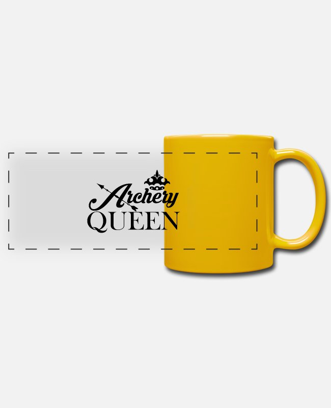 Arrow Mugs & Drinkware - Archery design for archery archery sport - Panoramic Mug sun yellow