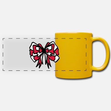 Vector Bow red & white / red & white bow - colorful - Panoramic Mug