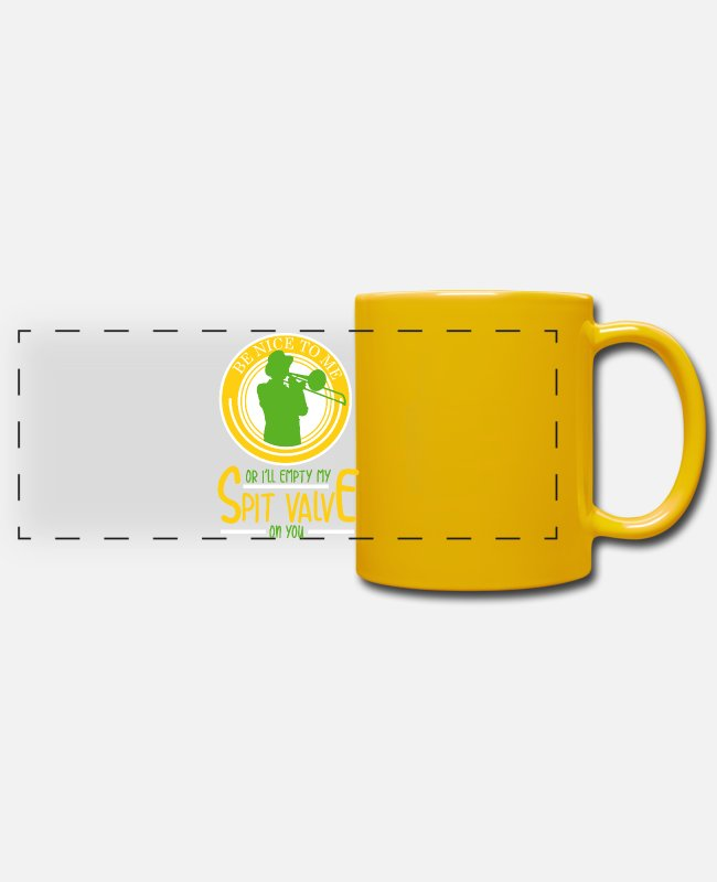 Trombone Mugs & Drinkware - Trombonists - trombone - Panoramic Mug sun yellow