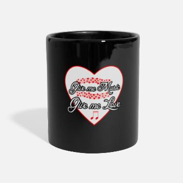 Music love musician musical saying - Panoramic Mug