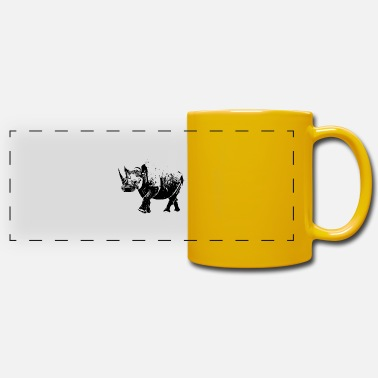 Wide Mouth Rhino rhino - Panoramic Mug