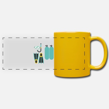 Wetsuit Diving - shirt swimming wetsuit gift - Panoramic Mug