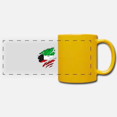 Designs Guinea Visit Wear Logo Nation With African koweit koweït kuwait - Panoramic Mug