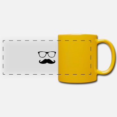 Schnäucher with glasses - Panoramic Mug