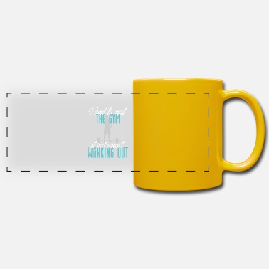 Excuse Fitness mad Gym Muckibude - Panoramic Mug