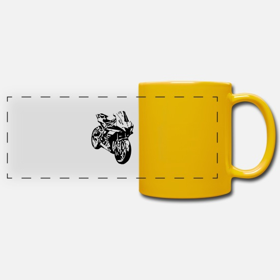 Motorcycle Mugs & Drinkware - motorbike - Panoramic Mug sun yellow
