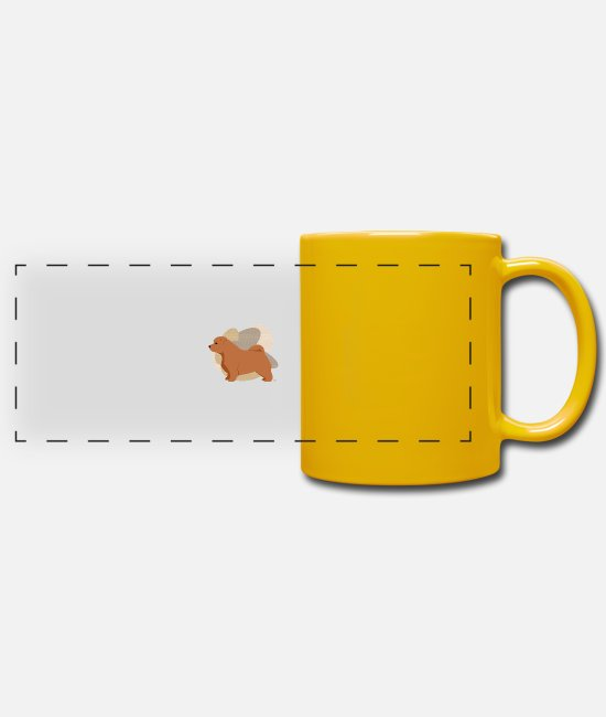 Warren Mugs & Drinkware - Dogs Collection by IxCÖ #Norfolk - Panoramic Mug sun yellow