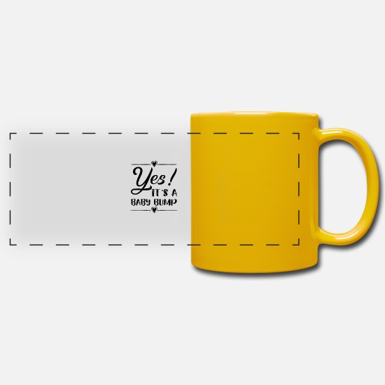 Shower Mugs & Drinkware - Yes! It's a baby bump - Panoramic Mug sun yellow