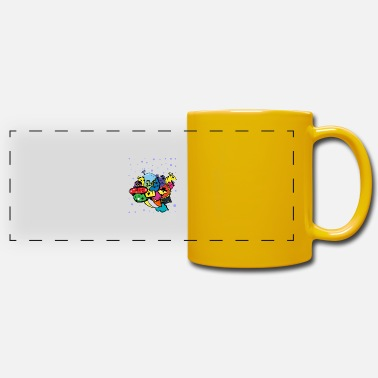 Doodle art du stylo monstre - Mug panoramique