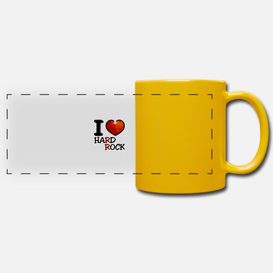 Love Mugs & Drinkware - I Love Hard Rock - Panoramic Mug sun yellow