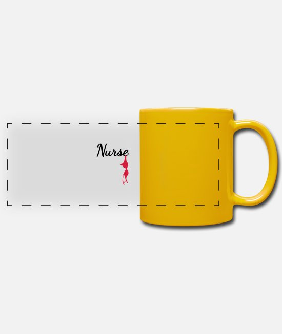 Medicine Mugs & Drinkware - nurse - Panoramic Mug sun yellow