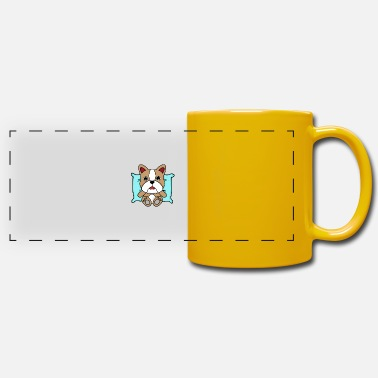Dog Dog on pillow - Panoramic Mug