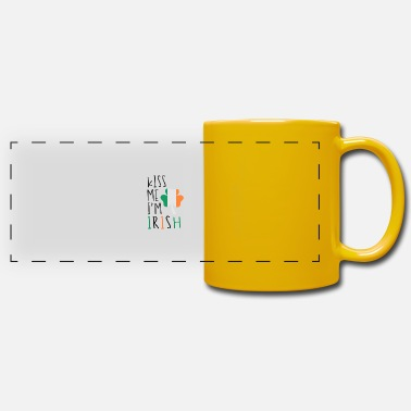 Funny Kiss Me I'm Irish - Panoramic Mug
