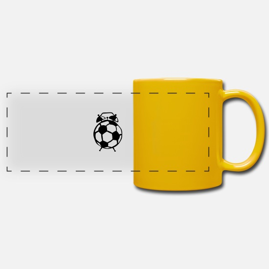 Soccer Mugs & Drinkware - Football balloon alarm clock - Panoramic Mug sun yellow