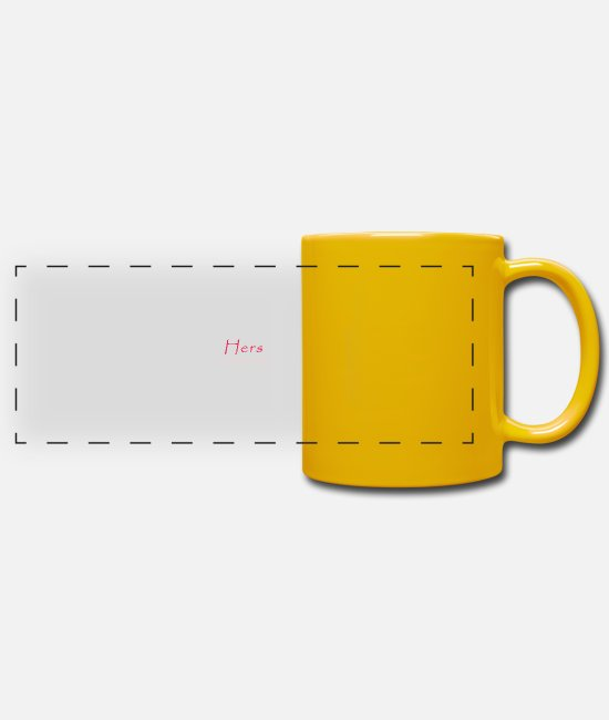 • Parents Mugs & Drinkware - His & Hers - Hers - Your the real BOSS - Panoramic Mug sun yellow