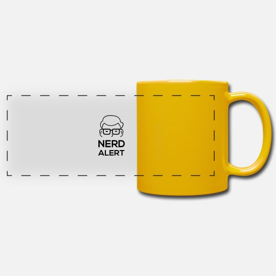 Alert Mugs & Drinkware - Nerd alert - Panoramic Mug sun yellow