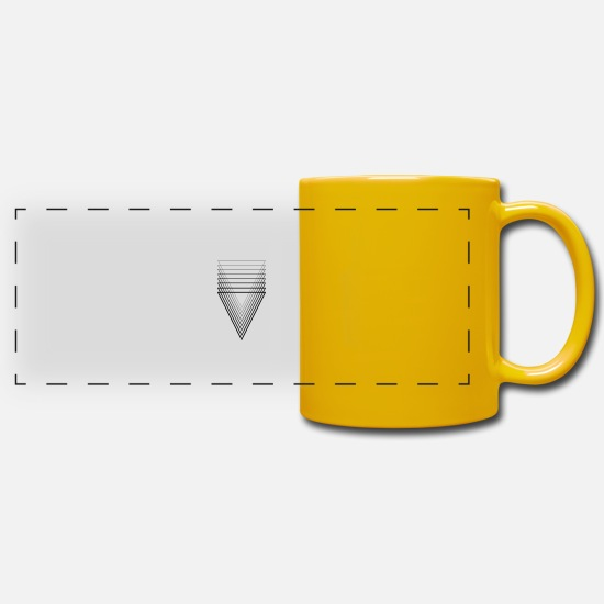 Illustration Mugs & Drinkware - Triangle Thin Thick - Panoramic Mug sun yellow