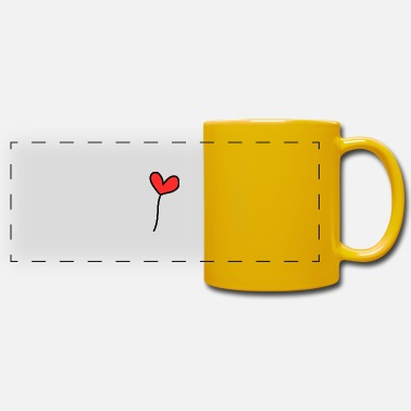 I Heart JE T'AIME. I LOVE YOU. AMOUR. LOVE. CŒUR. SAINT V - Mug panoramique