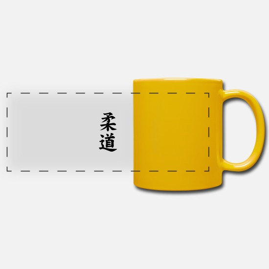 Judo Mugs & Drinkware - judo - Panoramic Mug sun yellow