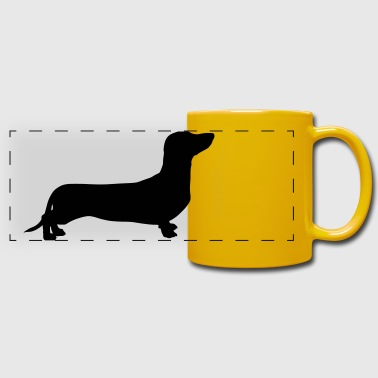Dachshund - Tazza colorata con vista