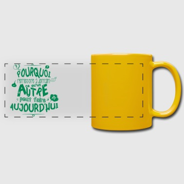 Citation de fonctionnaire - Mug panoramique uni