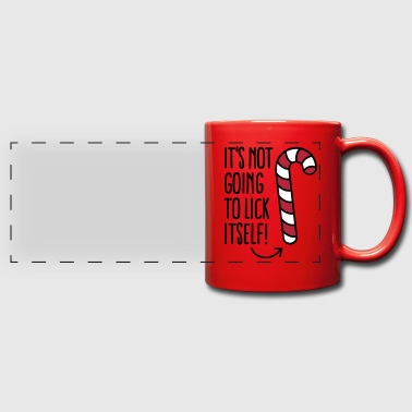 It's not going to lick itself (candy cane) - Mug panoramique uni