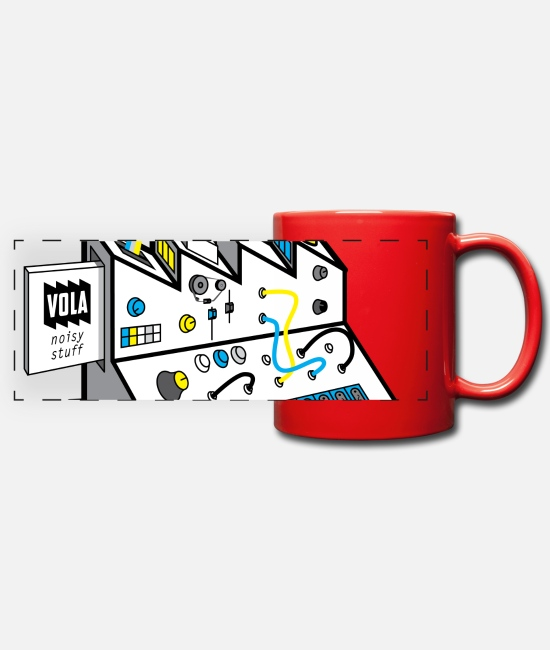Music Mugs & Drinkware - Noisy Factory - Panoramic Mug red