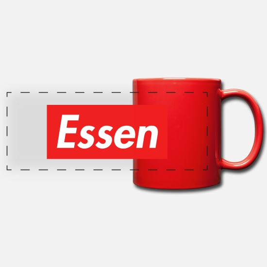 Love Mugs & Drinkware - Essen, city in North Rhine-Westphalia - Panoramic Mug red