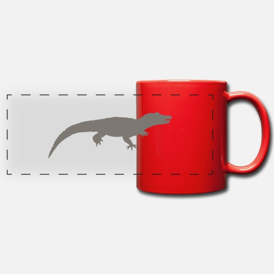Gift Idea Mugs & Drinkware - Aligator - Panoramic Mug red