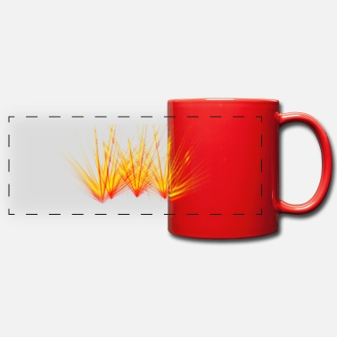 Fire beam laser colorful flame party - Panoramic Mug