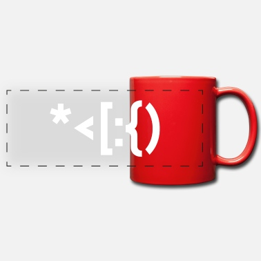 Punctuation Marks Santa from punctuation marks. - Panoramic Mug