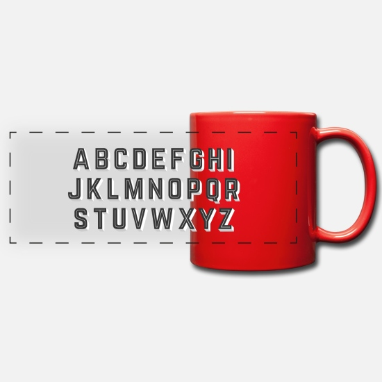 Abc Mugs et récipients - alphabet - Mug panoramique rouge