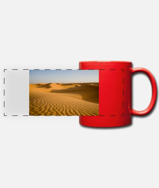Isis Mugs & Drinkware - Desert - Panoramic Mug red