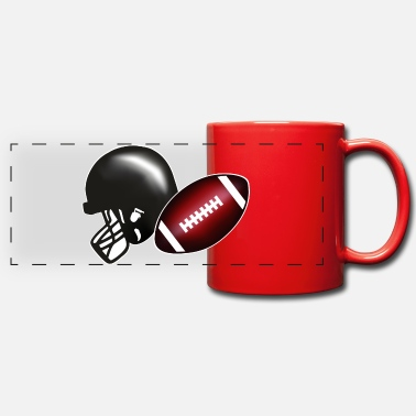 Football Americano American football, football & helmet - Tazza colorata con vista
