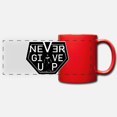 never give up - Mug panoramique