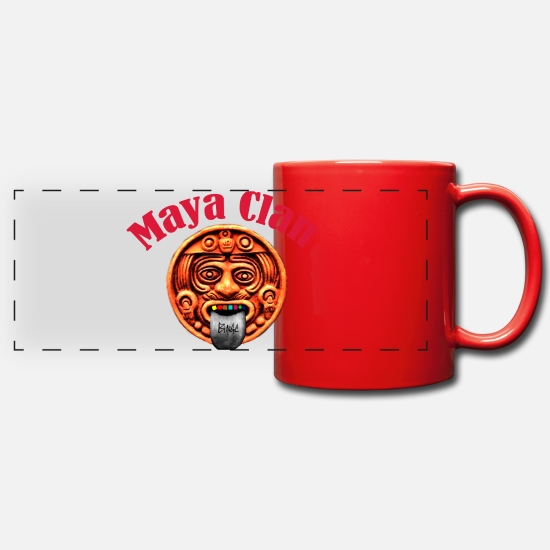 Clan Mugs et récipients - Clan maya | Folle maya - Mug panoramique rouge