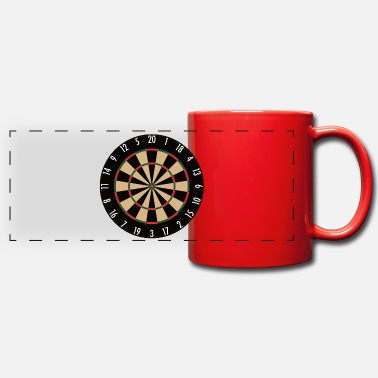 Darts Dartboard for Dart Fans, Gift Idea, Gift - Panoramic Mug