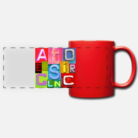 Miscellaneous Mugs & Drinkware - Colored letters - Panoramic Mug red