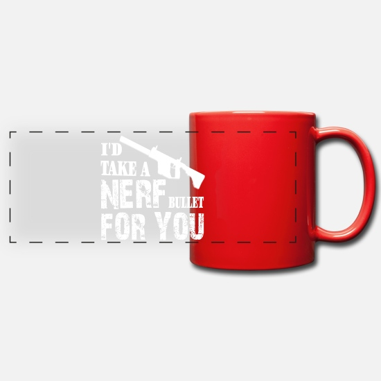 Free Hugs Mugs & Drinkware - i would take a nerf - Panoramic Mug red