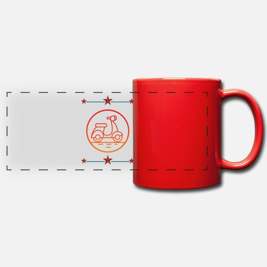 Gift Idea Mugs & Drinkware - Scooter driver (gift idea) - Panoramic Mug red