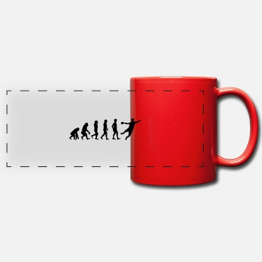 Goalkeeper Handball Handballer Evolution Gift - Panoramic Mug
