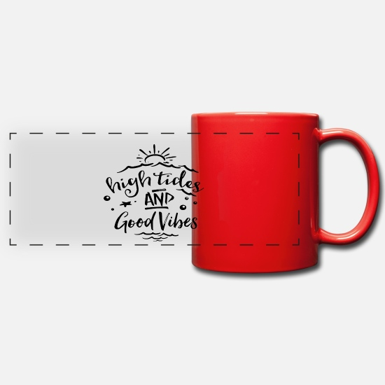 Birthday Mugs & Drinkware - Summer vibe - Panoramic Mug red